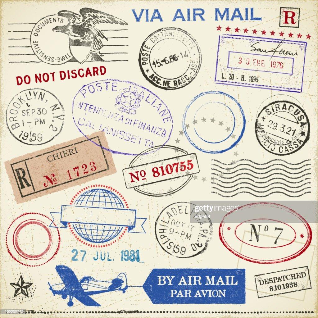 Stamps : stock illustration