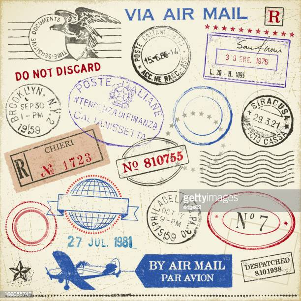 stamps - travel tag stock illustrations, clip art, cartoons, & icons