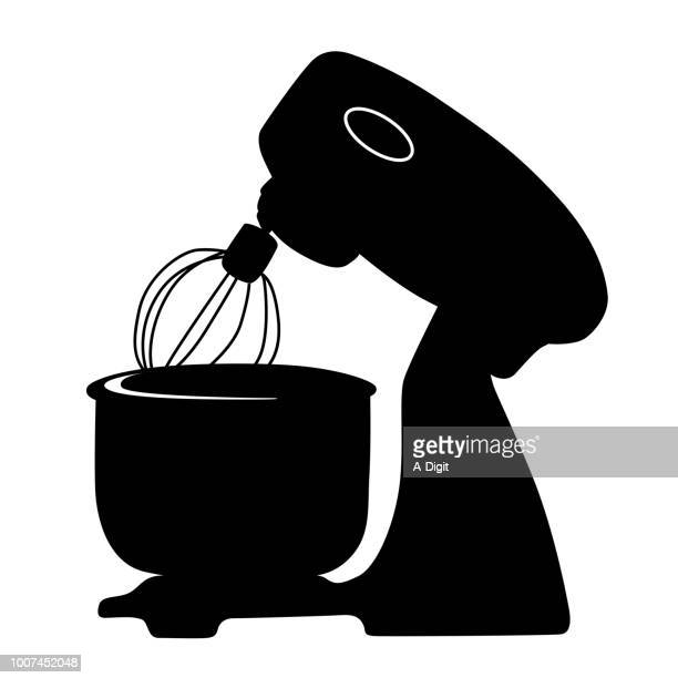stand mixer - egg beater stock illustrations, clip art, cartoons, & icons