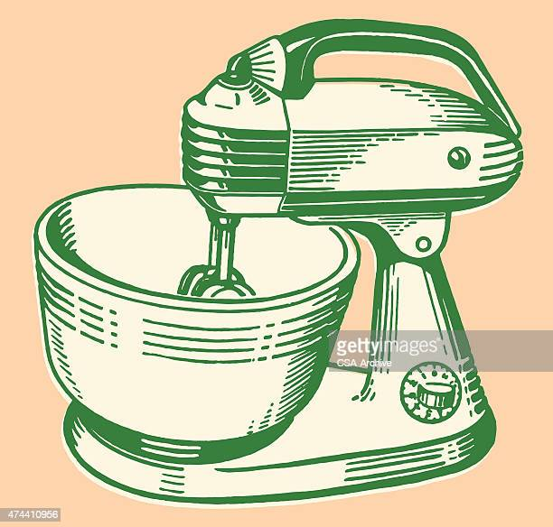 stand mixer - electric mixer stock illustrations
