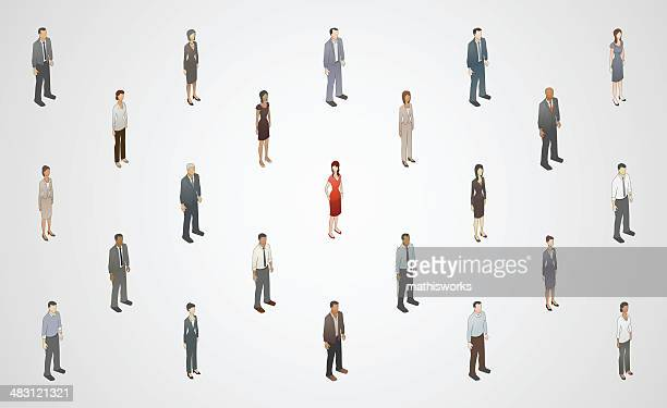 stand out from crowd illustration - mathisworks business stock illustrations