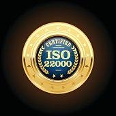 ISO 22000 standard medal - Food safety management