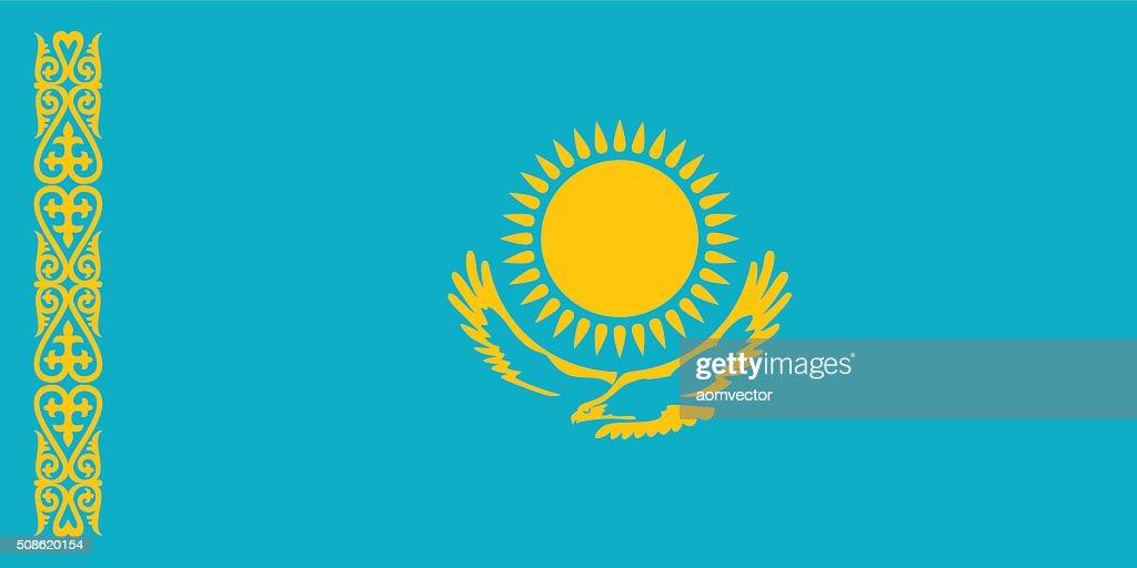 Standard Proportions for Kazakhstan Flag : Vector Art