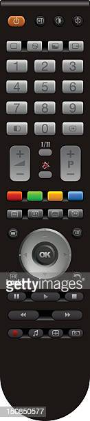 a standard remote control with various buttons - desk toy stock illustrations, clip art, cartoons, & icons