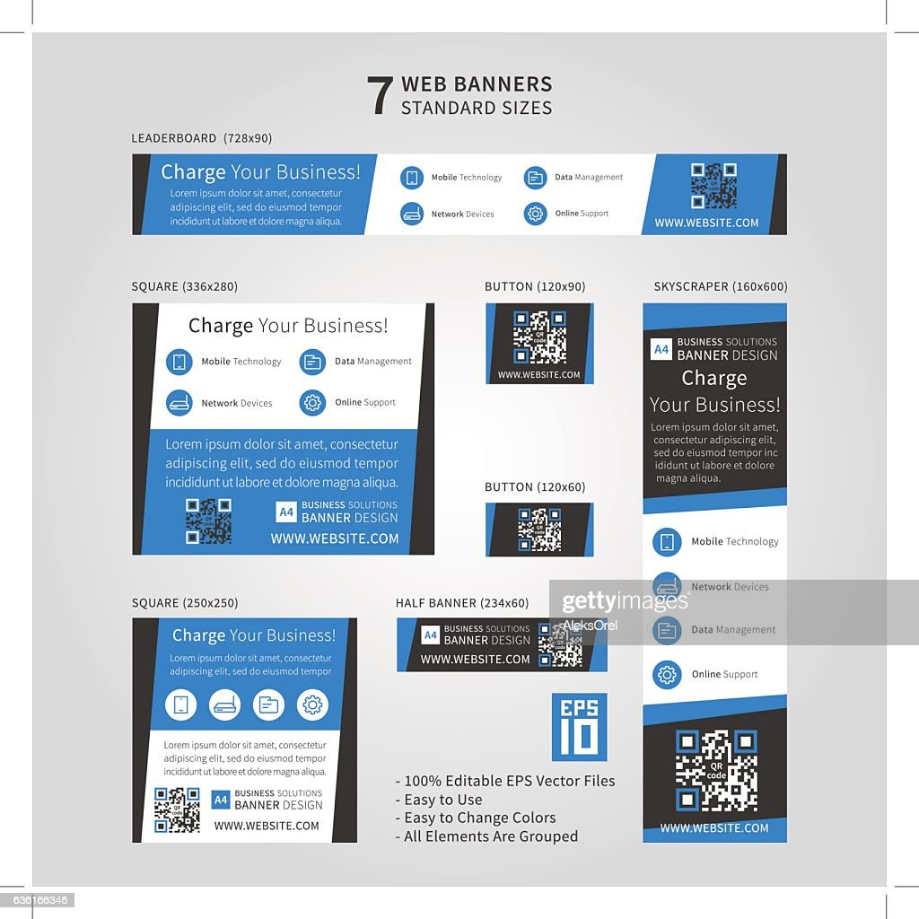 Standard size ad web banners set