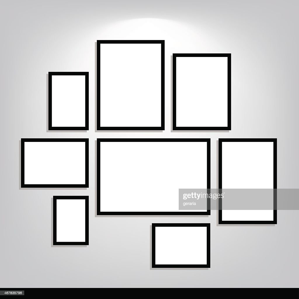 Standard size photography blanks template.