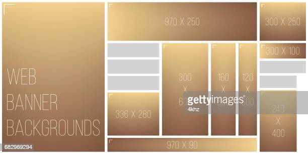standart size web banner color blend background palette - brown stock illustrations