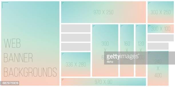 Standart Size Web Banner Color Bokeh Background Palette