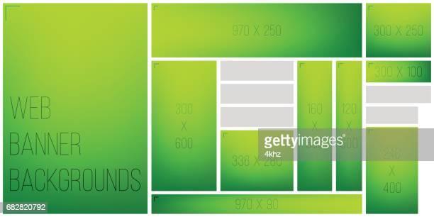 standart size web banner color gradient background palette - green background stock illustrations, clip art, cartoons, & icons