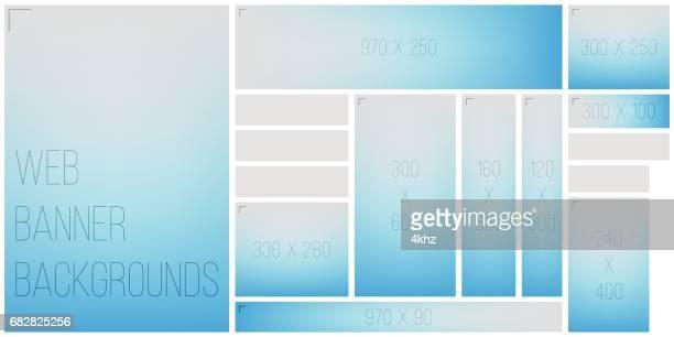 stockillustraties, clipart, cartoons en iconen met standart banner grootte bokeh achtergrond kleurenpalet web - lichtblauw