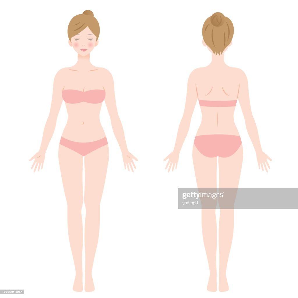 standing female body