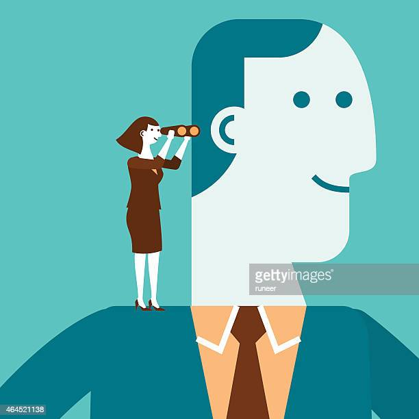 ilustraciones, imágenes clip art, dibujos animados e iconos de stock de de pie en el hombro de gigante concepto de negocios - patrocinador