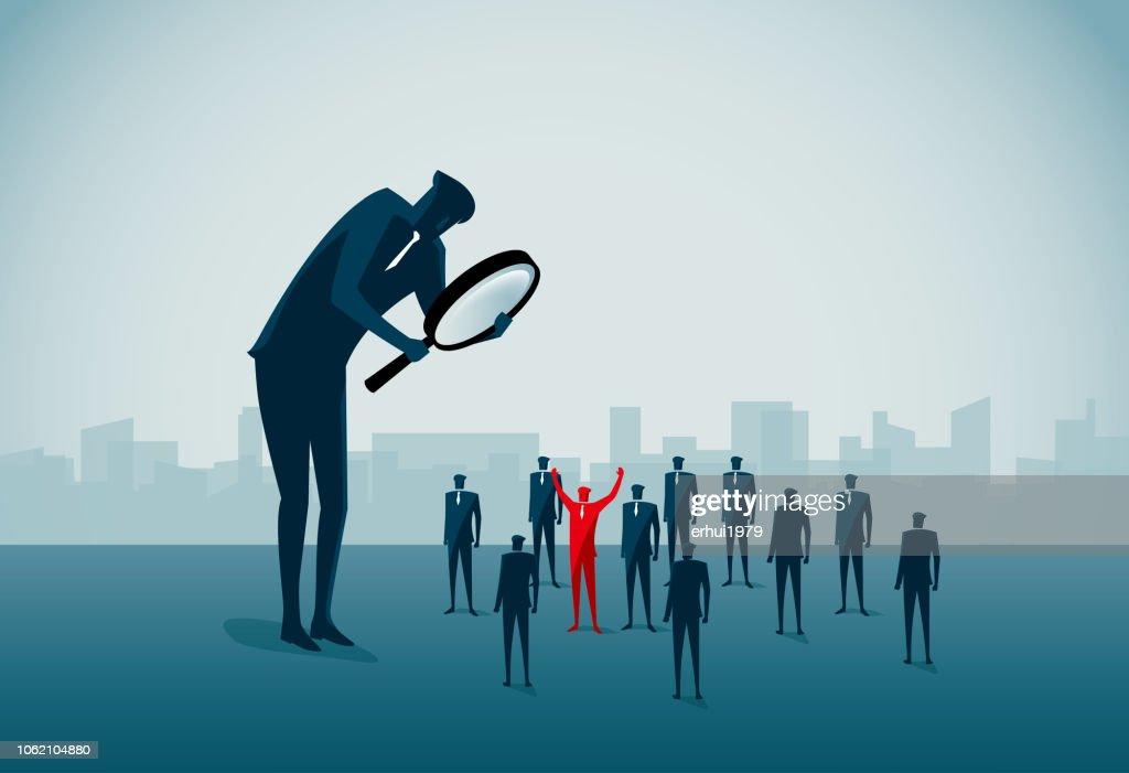 sich abheben von der Masse : Stock-Illustration