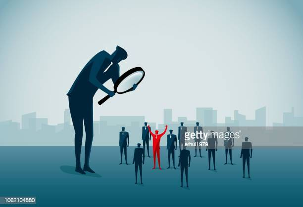 standing out from the crowd - contrasts stock illustrations