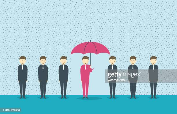 standing out from the crowd - rainy season stock illustrations, clip art, cartoons, & icons