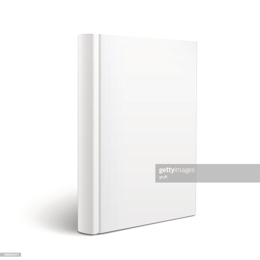Standing white book on a blank background