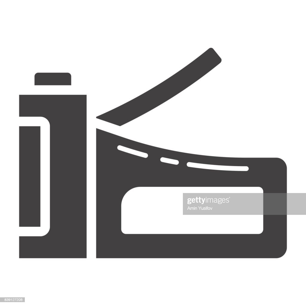 Staple gun glyph icon, build and repair, stapler sign vector graphics, a solid pattern on a white background, eps 10.