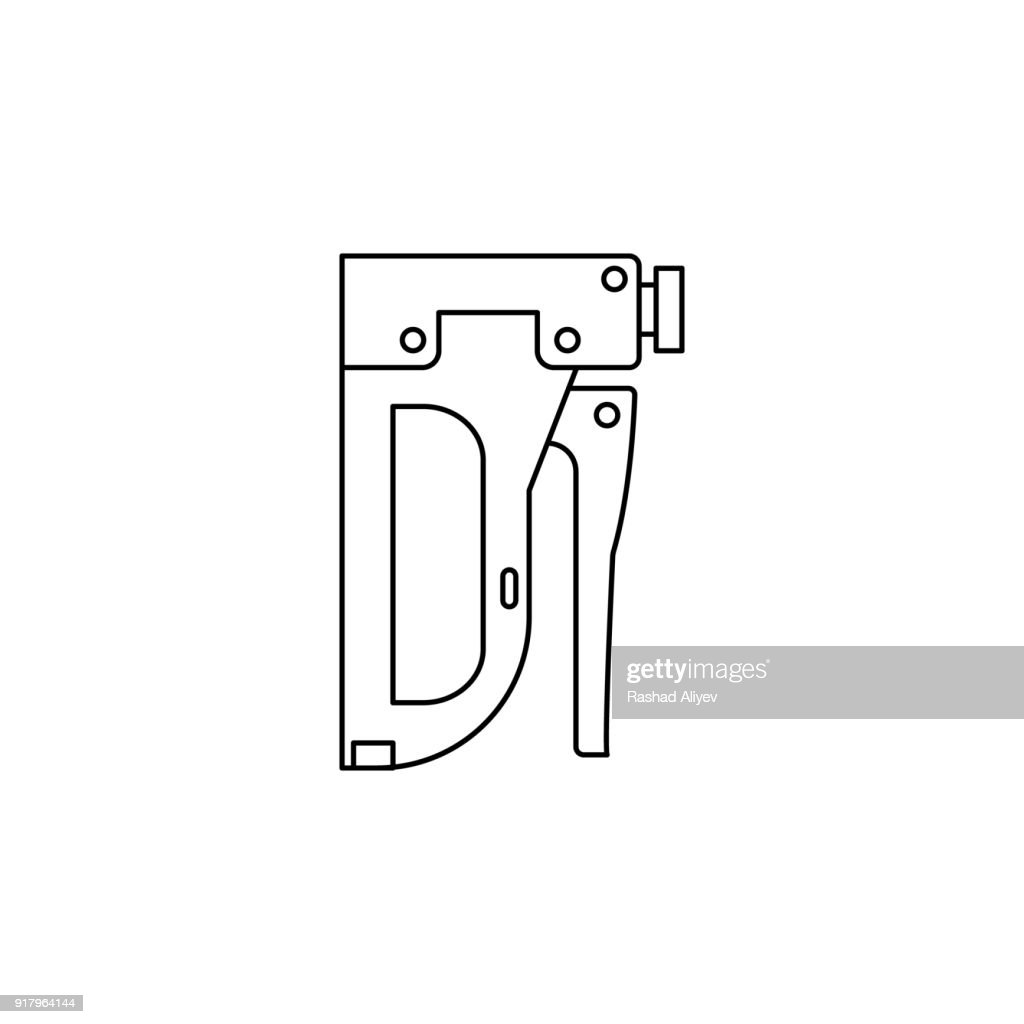 Staple gun icon. Element of construction tools for mobile concept and web apps. Thin line icon for website design and development, app development. Premium icon