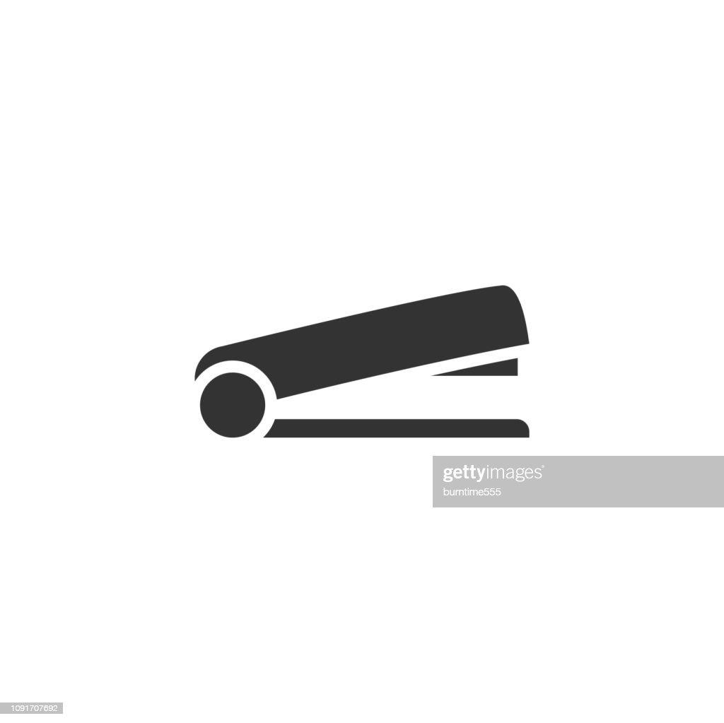 Stapler icon flat