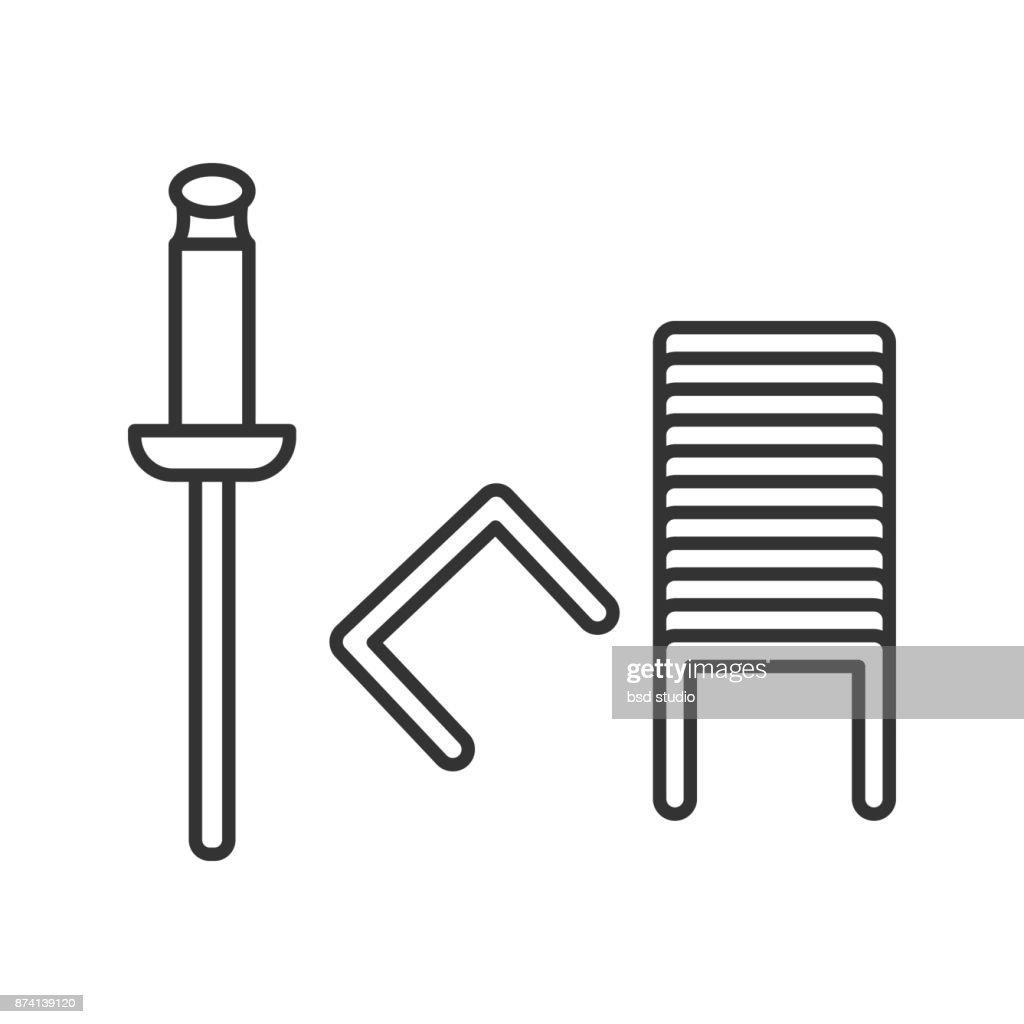 Stapler pins icon