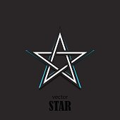 Star 3D abstract symbol. Popularity concept. Vector Illustration