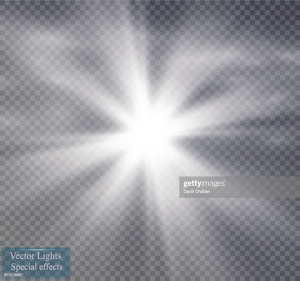Star and fog or smog on a transparent background