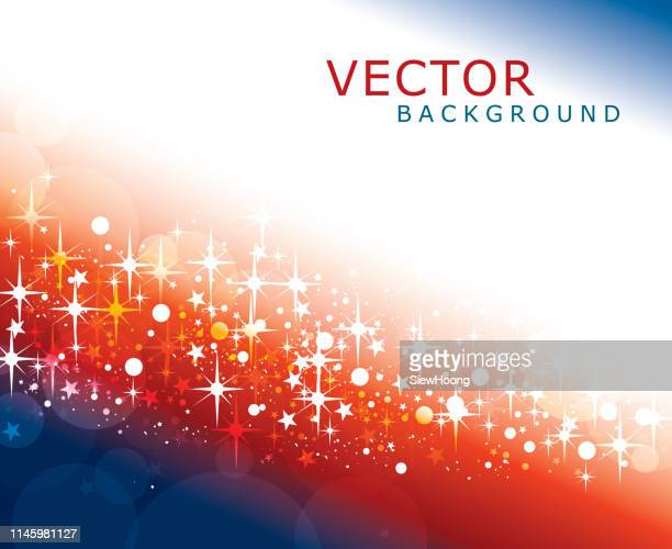 star and light background - patriotic christmas stock illustrations