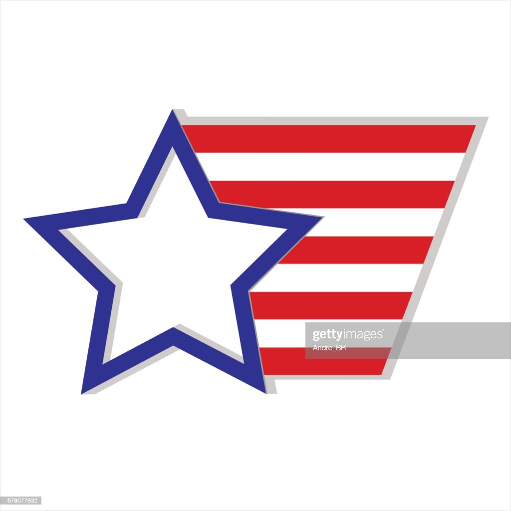 Star and stripes symbol USA