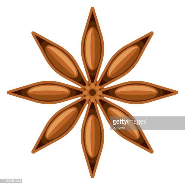 透明な背景上の星アニスアイコン - スターアニス点のイラスト素材/クリップアート素材/マンガ素材/アイコン素材