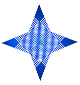 Star blue structure abstract id card vector icon