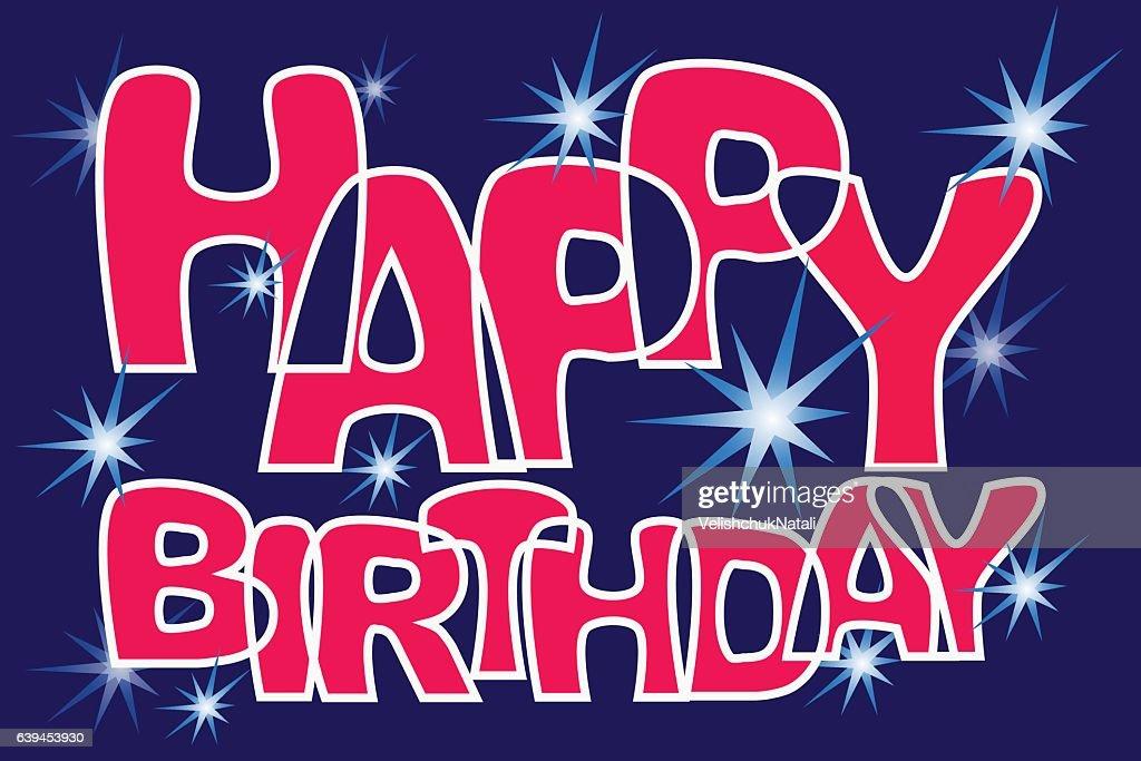 Star Congratulations Happy Birthday Vektorgrafik