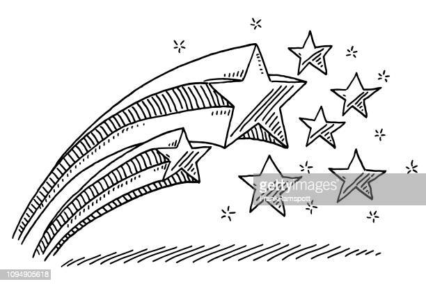 star decoration drawing - clip art stock illustrations
