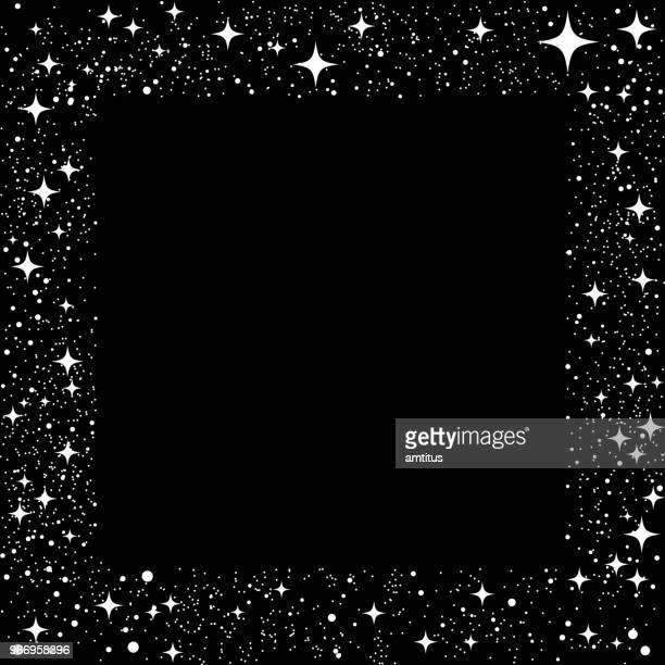 star dust frame - star field stock illustrations