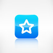 Star favorite sign web icon. Application button.