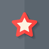 Star favorite sign web icon. Flat design.