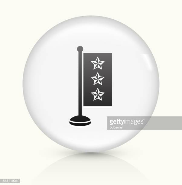 Star Flag icon on white round vector button
