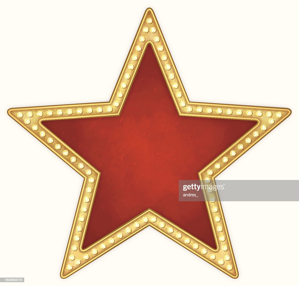 Star frame with lamps : stock illustration