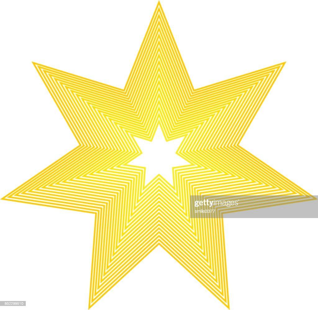Stern Goldener Stern Auf Leeren Hintergrund Vektorgrafik   Getty ...