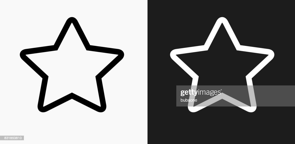 Star Icon on Black and White Vector Backgrounds : stock illustration