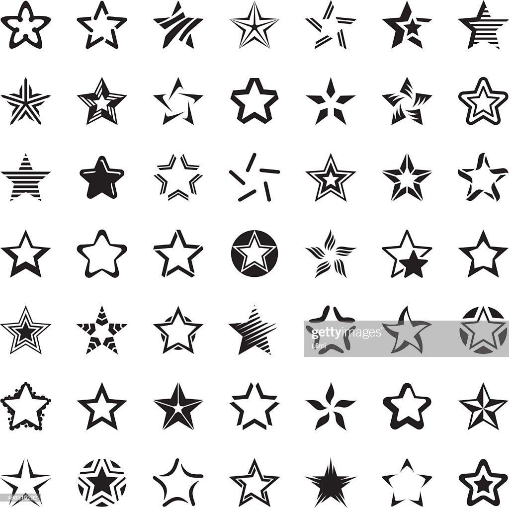 Star icon set : stock illustration