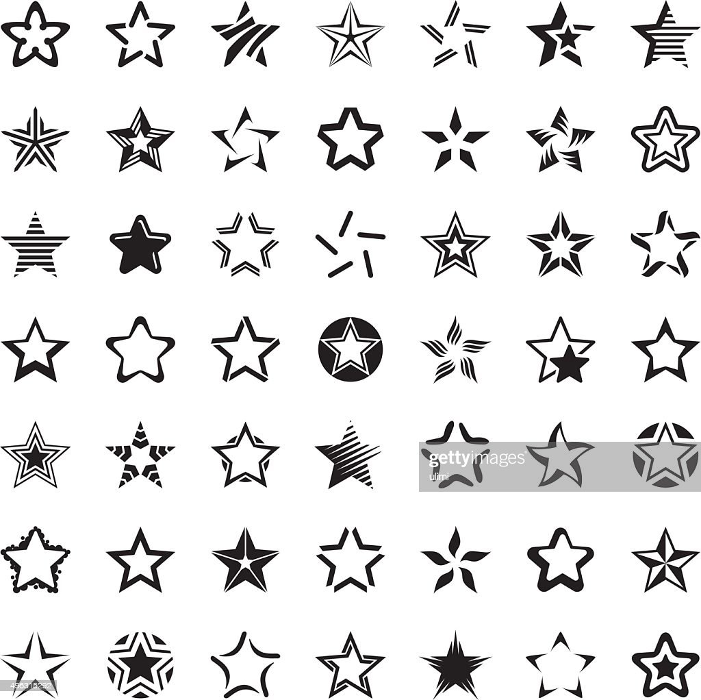 Star icon set