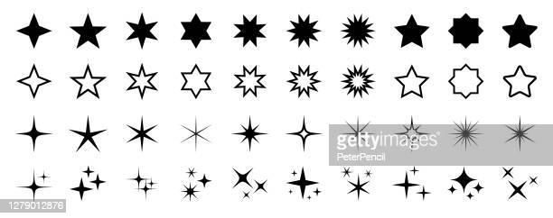 星のアイコンセット - ベクトルストックイラストレーション。星、星座、銀河の異なる形態 - ユダヤ教点のイラスト素材/クリップアート素材/マンガ素材/アイコン素材