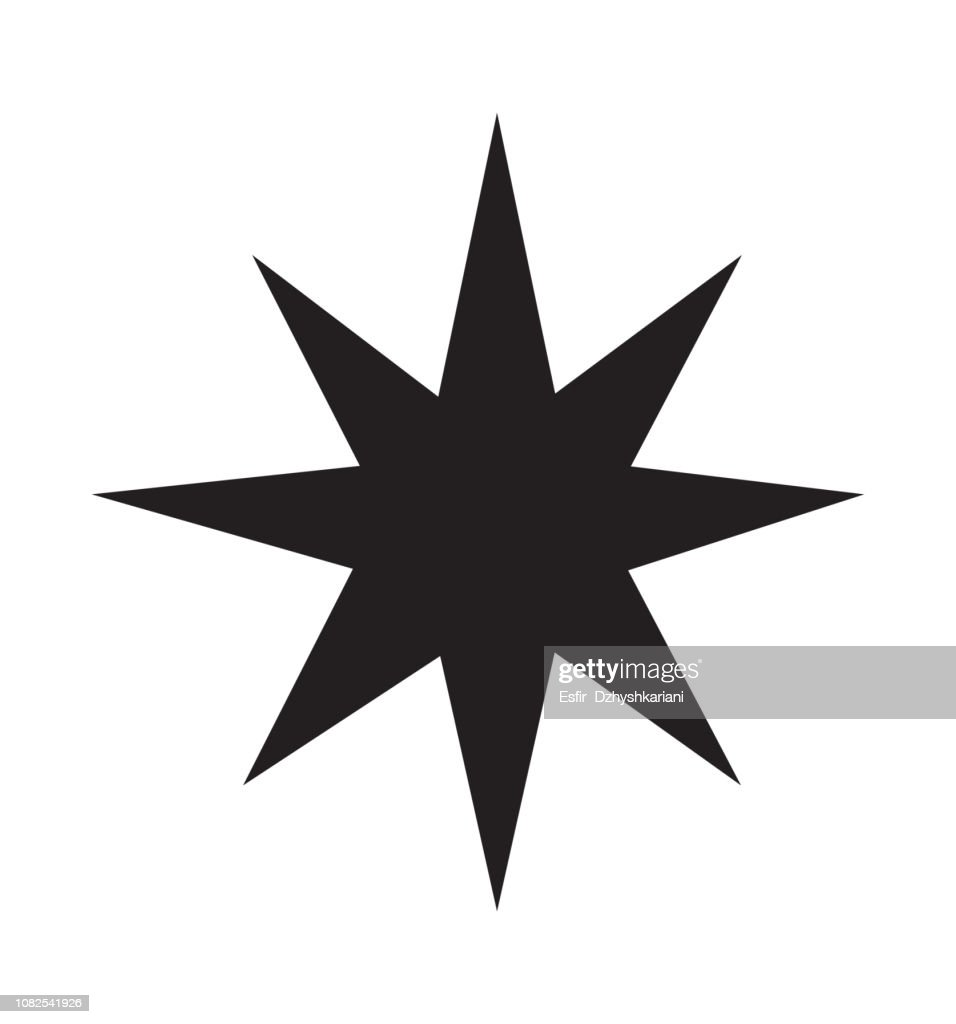 Star icon symbol of decoration isolated vector