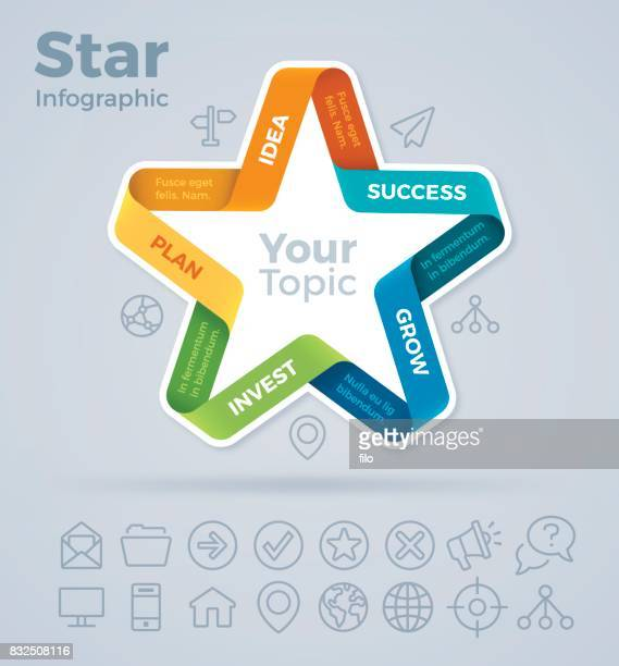 star infographic - part of stock illustrations