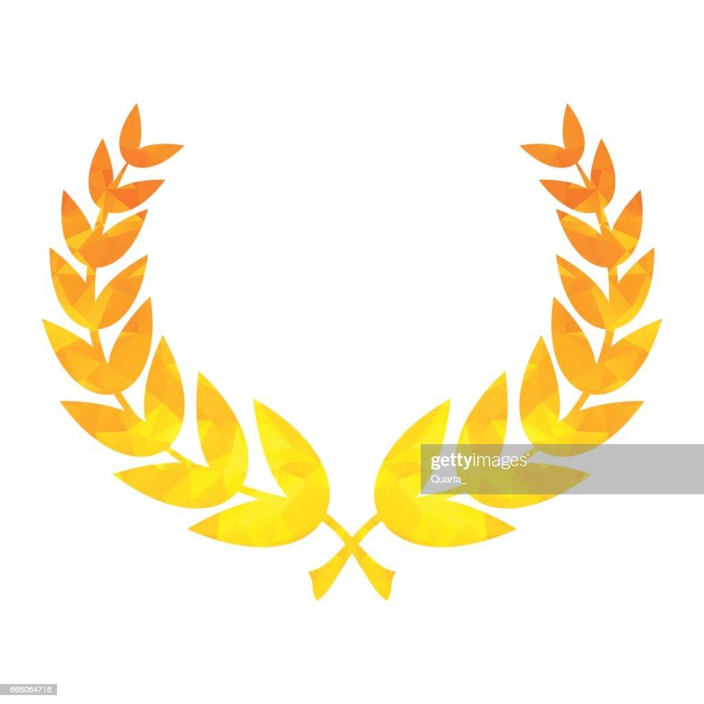 star laurel wreath of winner