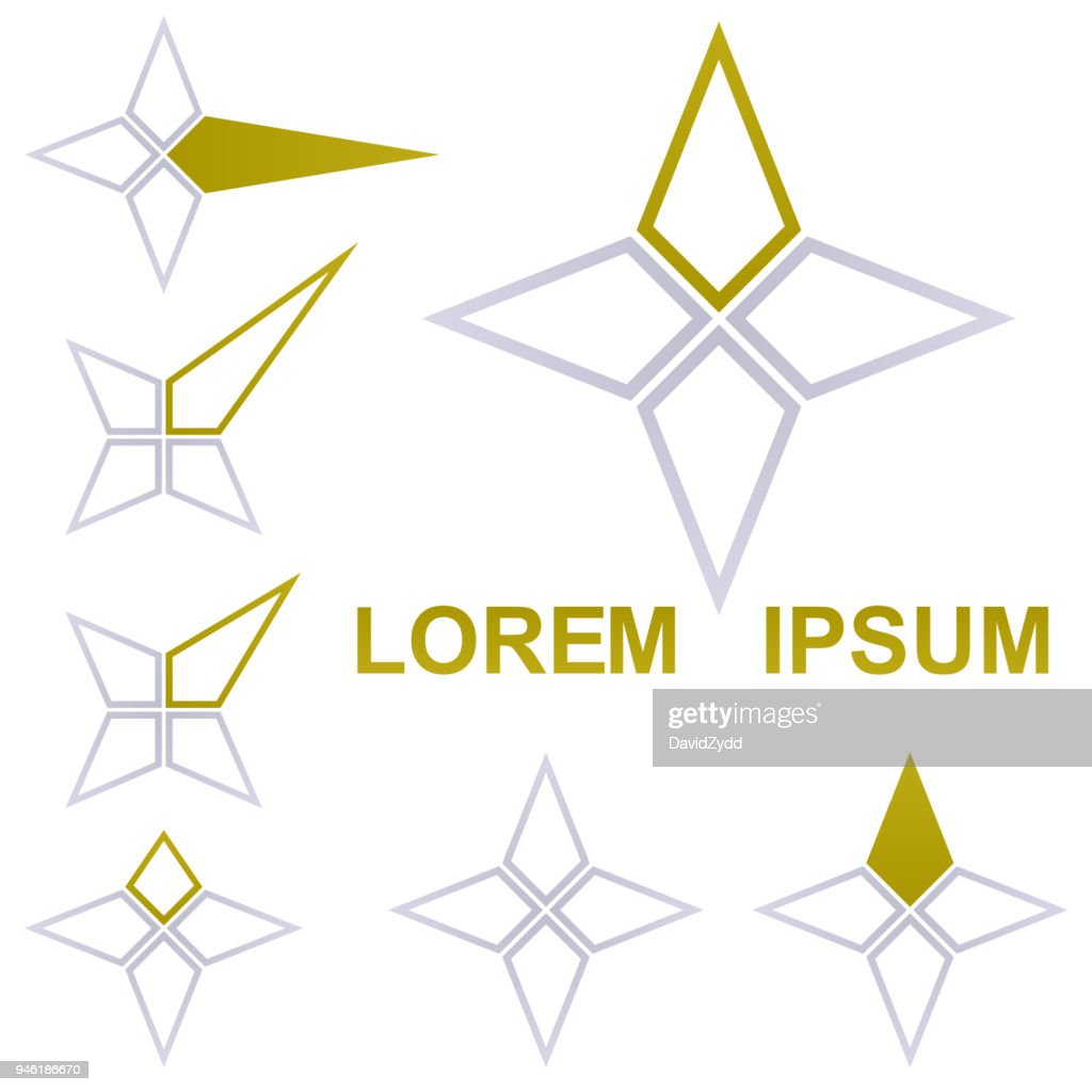 Star logo vector set