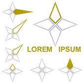 Star logo vector set