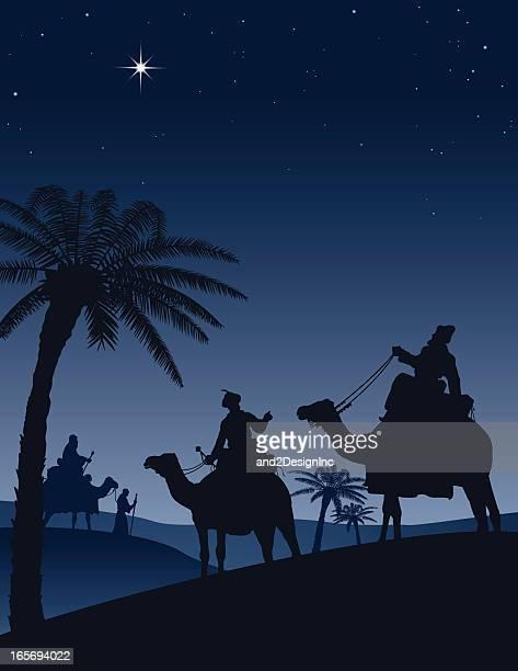 ilustraciones, imágenes clip art, dibujos animados e iconos de stock de estrella de belén - los tres reyes magos