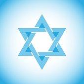 Star of David, a symbol of Israel, Hebrew.