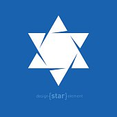 Star of David abstract vector design element